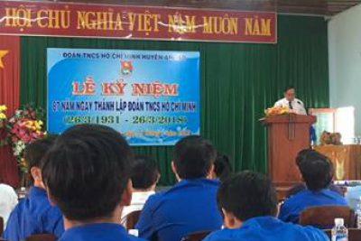 Huyện đoàn An Lão chức Lễ kỷ niệm 87 năm ngày thành lập Đoàn TNCS Hồ Chí Minh (26/3/1931 – 26/3/2018)